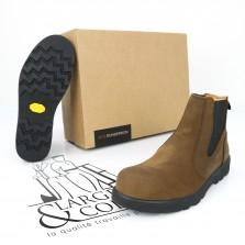 Boots de sécurité en cuir Dunderdon brun