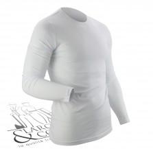 T-shirt de travail col rond manches longues blanc