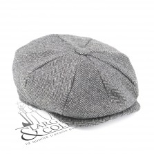 Casquette gavroche tweed grise