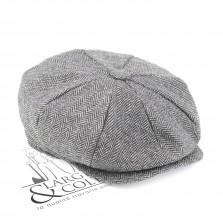 Casquette gavroche tweed grise