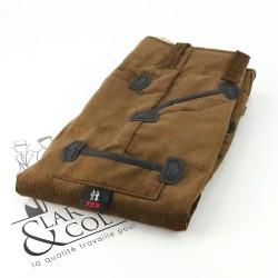 Pantalon de charpentier enfant velours FHB