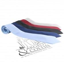 Cravate en soie unie bleu clair