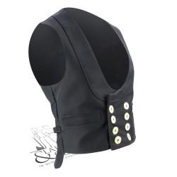Gilet tailleur moleskine avec protège-reins FHB noir