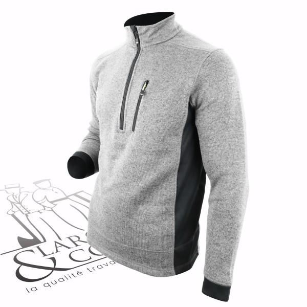 Pull en tricot polaire demi zip FHB