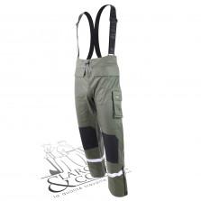 Pantalon de pluie tissu lourd vert
