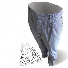 Pantalon de cuisine mixte Pied de poule Mistral Robur