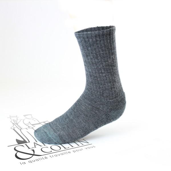 Chaussettes de travail hiver sans bords comprimants
