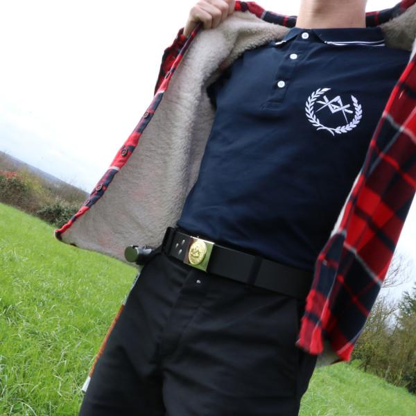 Polo avec blason de charpentier original