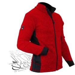 Veste en tricot polaire FHB rouge-noir