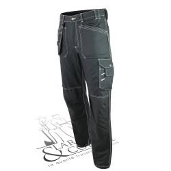 Pantalon hiver coton poches holster noir