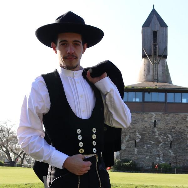 Gilet tailleur velours jonc Heiner FHB