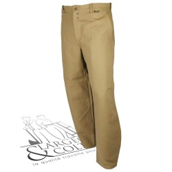 Largeot Lin taille basse beige