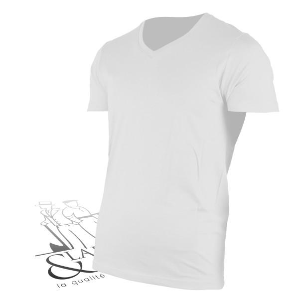 T-shirt de travail col en V