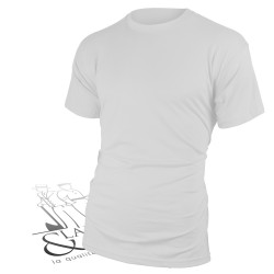 T-shirt de travail col rond blanc