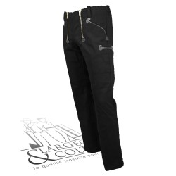 Largeot velours jonc 2 poches mètre FHB noir