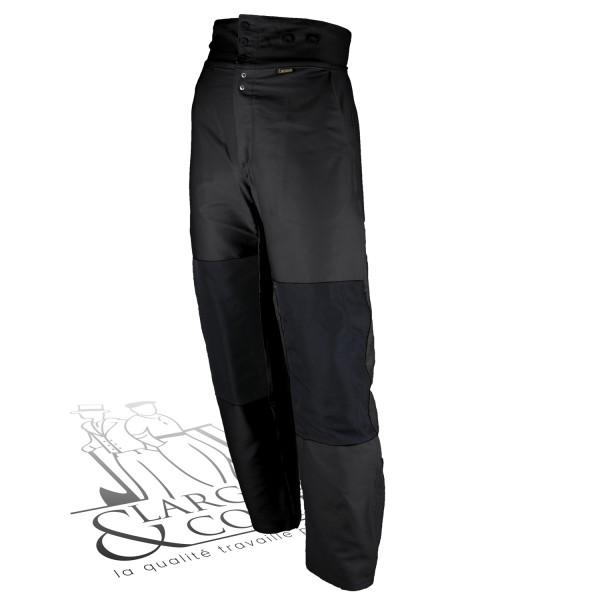 Largeot moleskine taille haute poches genouillères extérieures noir