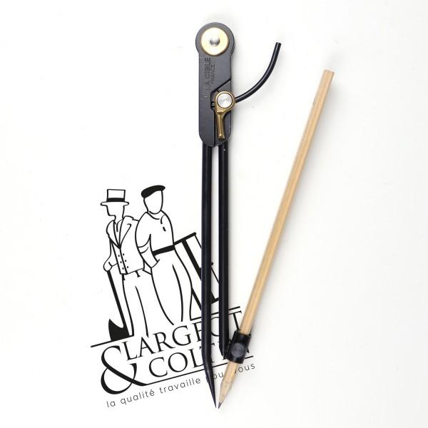 Compas carbone porte-crayon 1/4 de cercle