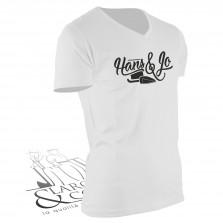 T-shirt de travail Hans & Jo blanc