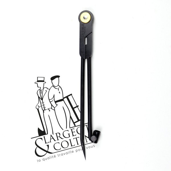 Compas carbone porte-crayon