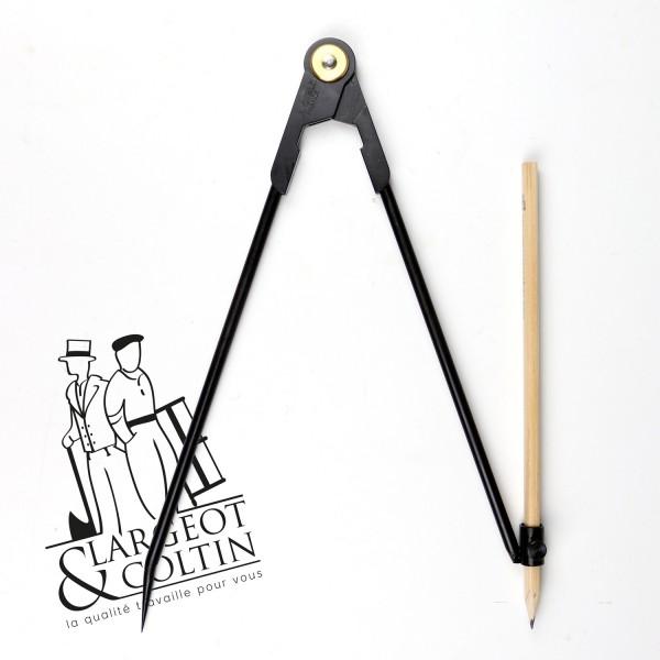 Compas porte-crayon simple charnière - La Cible