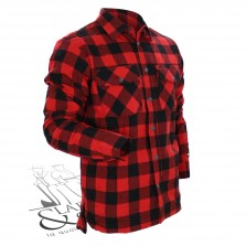 chemise hiver doublée Rouge