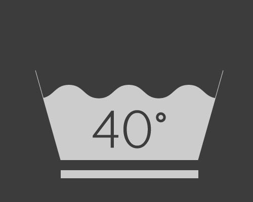 Lavage à 40°C en mode délicat