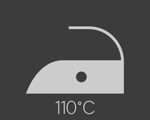 Repassage à température basse, sans vapeur - 110°C maximum