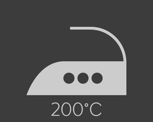 Repassage à température élevée - 200°C maximum